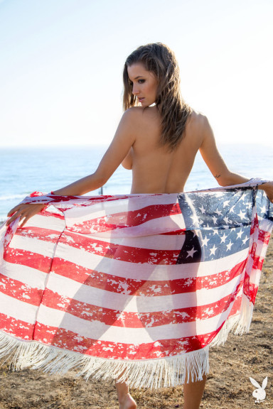 Alyssa Arce's Fourth of July photo shoot with Playboy